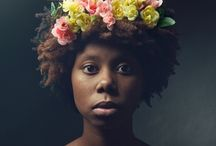 Afro's And Flowers / Afro's with flowers