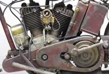 antique harley motorcycles