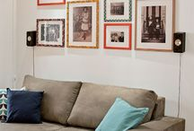 parede de fotos - sala