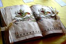 Antique fabric pattern books