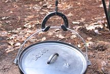 Cast Iron and Campfires / Cast Iron over a campfire / by Bill Tisher