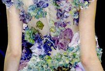 высокая цветочная мода