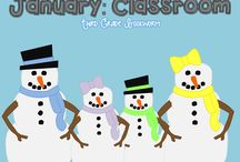January (Classroom) / Ring in the new year with lots of great ideas! Mostly FREE pins and lots of FUN!