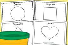 pro učení ... play dough mats