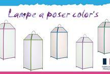 Lampe lumi color's / Osez l'originalité ! Apportez une touche déco à l'ambiance de votre intérieur avec la collection lumi color's ,une gamme design de lampe lanterne.