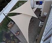 Shade tent for deck