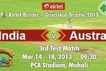 India vs Australia Mohali, 3rd Test Match Tickets