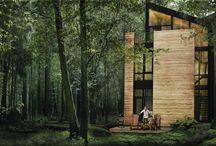 ARQ | Ideas casa de madera + montaña + bosque