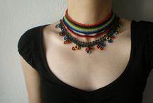háčkované šperky / bavlna