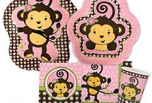 Monkey Girl Baby Shower / Monkey Baby Shower Ideas / by Modern Baby Shower Ideas