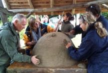 How to build a clay oven / Sat 17th Sept 2016 Learn the techniques to build a clay oven at our beautiful site in the Hampshire South Downs. Participants will learn how to construct the oven from builder's sand, clay, wood shavings, bricks and recycled glass bottles. Course includes a pizza meal cooked in a completed cob oven.