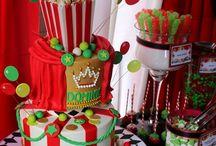 Christmas Circus Birthday Party / Christmas Circus Stylist: Debbie Kennedy Events & Design. www.debbiekennedyevents.com https://www.facebook.com/DebbieKennedyEvents Printables: www.squaredpartyprintables.com