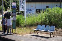 資料(駅・バス停留所のイス) / バス停留所によくあるイス