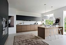 Kitchen - white, black, wood