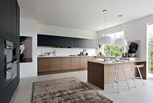 Kitchen - white, black, wood