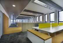 Open space / Open, office, space, chair, table, screen, cabinet
