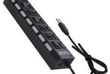 Terabyte 7 Port USB 2.0 Hub with 7 on and off switch