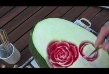 intagli sulla frutta e verdura