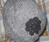 Hand knitted berrets