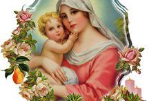 "Maria Mediatrix / ""Maria ingin membentuk dalam tiap-tiap kita sebuah hati yang murni, penuh kasih dan kebaikan, hati yang dapat berdenyut dalam satu hentakan dengan hati Putranya. Jadi ..., marilah kita menempatkan hati kita ke dalam tangan Maria, agar ia dapat mengisinya ""dengan rahmat dan kebenaran, hidup dan keutamaan."" (Missale Romanum)"
