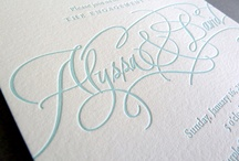 - hand letter - / by Real Card Studio