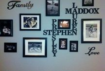 For the home  / b/w family photo wall