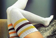 stripe calf socks