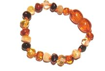 Amber / Beautiful Baltic amber teething necklaces and anklets