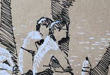 my work Hot sun by the #Dordogne #doodle #ink #pen #sketch