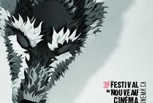 Affiches de festivals de cinéma montréalais / Quelques affiches provenant de festivals de cinéma qui ont eu lieu à Montréal