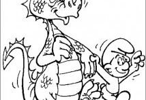 Smurfs and Gargamel coloring pages / This page has smurfs and gargamel free coloring pages for kids,parents and teachers.