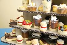 """Not just for cupcakes! / Be creative!  The Cupcaketree cupcake stands are the perfect display for other treats too!  Macarons, chocolates, treats, muffins - anything!  How about a """"toy tree"""" for your child's birthday party, or burgers for you tailgate! The possibilities are endless!"""
