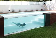 Glass Pool / Glass pool is a wonderful , modern design that gives luxury and perfect combination.