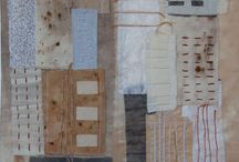 Textiles by Lornarobertsonart. / Rust, tea and coffee staining on fabric