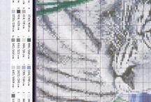 borduren witte tijger
