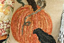 Fall Holidays / Rugs and projects for Fall and Halloween.