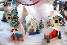 Crafts - Putz and Paper Houses / SEARCH: Putz Houses, Glittering Houses, Miniature Houses, Train Houses, Yuletide Cottages, Christmas Village Houses, Luminary Houses, Little Houses! Tiny houses, wee houses / by Bonka Perry