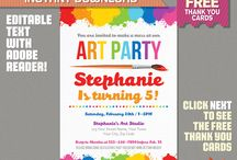 Art Birthday Party Ideas and Printables