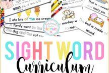 Kindergarten Fry's Sight Words first 300