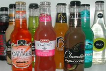 Alcopops / A large range of flavored alcoholic beverages to choose.