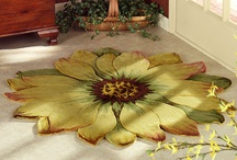 Blooming Rugs / What could be prettier than a blooming flower blossom, right on your floor? These unique, flower shaped rugs have contours formed by petal designs, creating a pleasant reminder of a floral bloom. / by Touch of Class