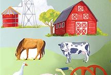 Farmyard Themed Bedroom Ideas & Farmyard Animal Light switches / Ideas For Decorating a Boys or Girls Farm Yard or Farm Animal Themed Bedroom. Wallpaper, Tractors, Bedding, Light Switches, Door Plaques, Wall Stickers, Lampshades. All Things Farm Inspired.