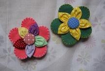 fuxico flowers / by bogart ortega