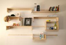 Vere - Finished Setups / Different setups of the Vere shelving system.