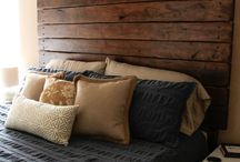 Laminated wood headboard