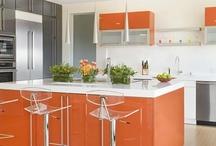 Orange Energy / Orange room settings, decor, and interior design!