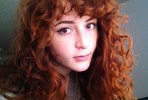 Curly bangs:)