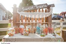 Rustic sweetie / dessert table