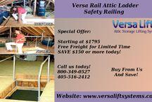 Versa Rail Attic Ladder Safety Railing