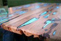 Holz und andere Materialien